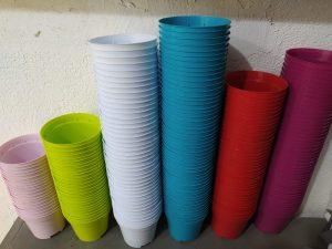 Renkli saksı